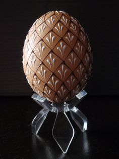 Decorated Easter Egg, Wax Embossed Pysanky, Hand Decorated Chicken Egg - by Bo Langner - etsy.com