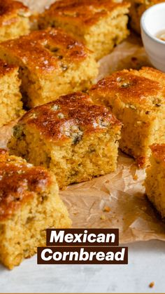 Other Recipes, Great Recipes, Favorite Recipes, Mexican Dishes, Mexican Food Recipes, Homeade Bread, Mexican Cornbread, Good Food, Yummy Food
