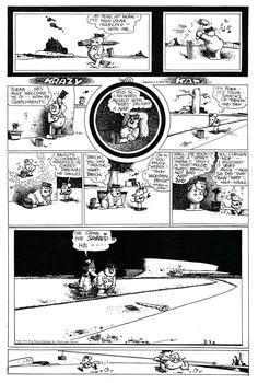 Krazy Kat 1944 Chris Ware, Art Spiegelman, Will Eisner, Classic Comics, Compliments, Stuff To Do, Vintage World Maps, Cartoon, Graphic Novels