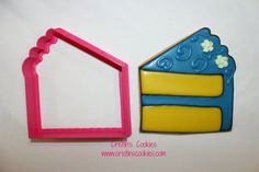 3.25 Cake Slice COOKIE CUTTER by CristinsCookies on Etsy, $6.00