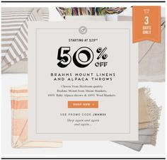 Love this email design from Homemint <3