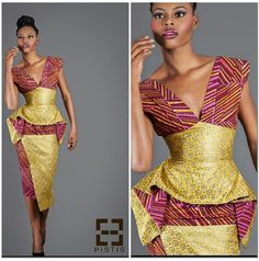 Ankara in Full Bloom! Ankara is setting the trends in the fashion world and the list of styles you can choose from is fast becoming endless. Whatever the occasion or… African Inspired Clothing, African Print Fashion, Africa Fashion, Ethnic Fashion, Fashion Prints, Fashion Design, African Prints, Fashion Styles, Ankara Fashion