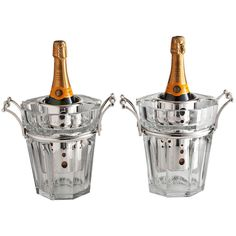 Stunning Pair of Baccarat Champagne Coolers, France, circa 1950 | From a unique collection of antique and modern wine coolers at https://www.1stdibs.com/furniture/more-furniture-collectibles/wine-coolers/