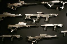 Late 24th century phaser rifle display
