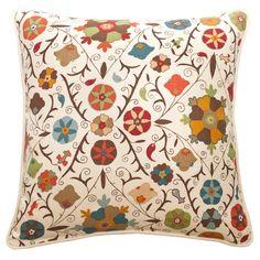 21 Safi Suzani Chocolate Cherry Throw Pillow  MidCentury  Modern, Upholstery  Fabric, Pillow by Kathryn M Ireland Textiles  Design