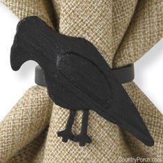 $3.50/eaOlde Crow Napkin Ring--Halloween
