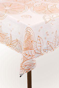 Citrus Fruit Tablecloth // Zest for Life