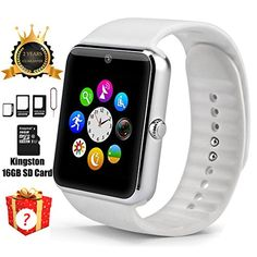Smart Watch GT08 Bluetooth with 16GB SD Card and SIM Card Slot for Android Samsung S5 S6 Note 4 5 HTC Sony LG and iPhone 5 5S 6 6 Plus Smartphones (Sliver) by MemawS 4.5 out of 5 stars    7 customer reviews  | 45 answered questions Price:	$30.99 & FREE Shipping on orders over $49