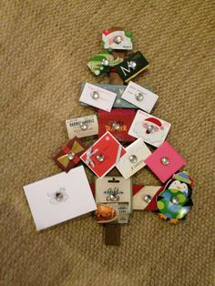 Gift Card Tree Diy Holidays Pinte