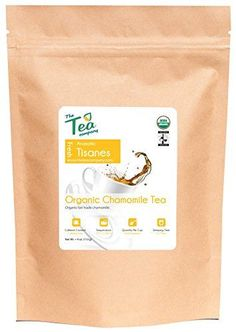 Organic Chamomile Tea  Whole Flowers  Calming Herbal Tisane  Certified Fair Trade  Relaxing  Caffeine Free  Bulk  Healthy Beverage  Loose Buds  GMO Free  by The Tea Company 4 oz -- Click image for more details.