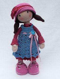 Doll CELINE pattern by CAROcreated design