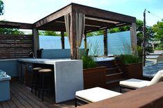 30 Awesome Pergola Design Ideas You Will Love to Have in Your Garden Hot Tub Pergola, Hot Tub Deck, Patio Gazebo, Pergola Shade, Pergola Plans, Pergola Kits, Jacuzzi Outdoor, Patio Roof, Backyard Patio