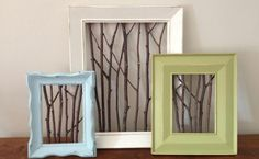 Stick frames make awesome decor for those picture gallery walls you aspire to create, hanging in a hallway, or leaning on a sofa or end table. Handmade in MN | Available at Carver Junk Company |Recycle. Repurpose. Relove.