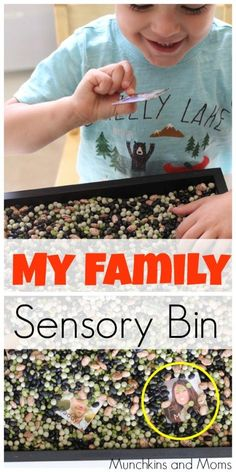 """My Family"" themed sensory bin. A great addition to the preschool theme ""All About Me!"""