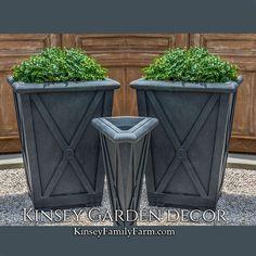 Directoire Medium Square Outdoor Planters | Kinsey Garden Decor