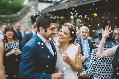 Edwina & Liams Woodland Wonder  Images by @edgodden  Beautiful shot capturing the shower of confetti.