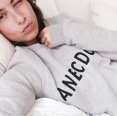 Lizzy vd Ligt in our Anecdote brand sweater