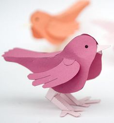 Easy DIY dimensional paper bird - spring decoration (free printable) // Térbeli madárka - tavaszi dekoráció papírból (nyomtatható sablonnal) // Mindy - craft tutorial collection // #crafts #DIY #craftTutorial #tutorial