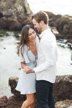 A Dreamy Corona Del Mar Tide Pool Engagement Session with Chris + Sophia by Christa Norman Photography - Outfit Inspiration for your engagement session