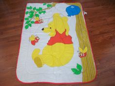 Vintage Winnie the Pooh  flowers bee baby girl boy by LittleMarin,
