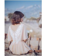 "Vintage Retro Inspired Romantic Dress ""Gemma""   뒷모습이 더 예쁜 피치 컬러의 사랑스러운 여신 원피스  자세한 사항- http://blog.naver.com/bsbgirlj/220708374917  돌잔치 브라이덜샤워 소규모 결혼식 스몰웨딩 드레스 하우스웨딩 피로연 허니문 스냅 프로필 촬영 드레스  웨딩스냅 셀프웨딩 신혼여행 원피스 돌드레스 맘드레스  샌프란시스코 스냅"