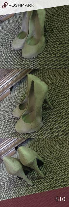 nude suede heels nude suede heels - view pictures for wear & tear Shoes Heels