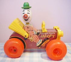 Vintage Fisher Price toy 1965 Jolly Jalopy 724 oud speelgoed Altes Spielzeug