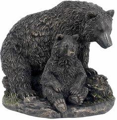 Bear and Cub Sculpture Statue Figurine available at AllSculptures.com