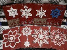 biglietti natalizi con fiocchi di neve - christmas greeting cards with snow flake