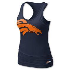 NIKE NFL Denver Broncos Women's Tank Top, Navy - Med