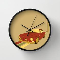 I could make one like this with one of the cool car images out there  Follow This Road Clock