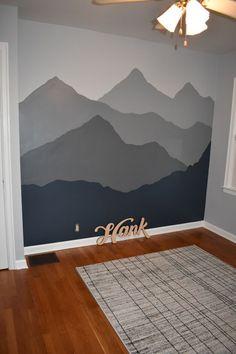 Mountain Mural, Mountain Nursery, Kindergarten Wallpaper, Murals For Kids, Accent Wall Bedroom, Accent Walls, Nursery Wallpaper, Accent Wallpaper, My New Room