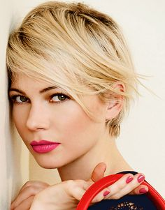 Michelle Williams - Looked the best with a pixie cut out of everyone in Hollywood, hands down. Description from pinterest.com. I searched for this on bing.com/images