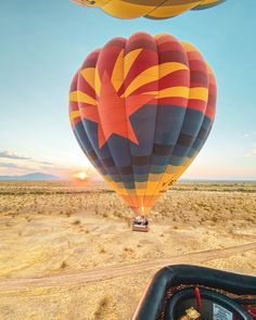 """Hot Air Balloon Fun Fact - Every balloon in the Rainbow Ryders fleet has its own name. . Back in 2017, we wanted to dedicate this balloon to everyone who has supported the company, so we left the naming process up to you guys! """"Arizona Rising"""" had her inaugural flight on February 14, 2017, which was not only Valentines Day, but also the State of Arizona's Birthday! Air Balloon Rides, Hot Air Balloon, State Of Arizona, February 14, Places To See, Phoenix, Cool Photos, Fun Facts, Balloons"""