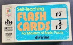 Milton-Bradley-Self-Teaching-Division-Flash-Cards-1978-100-cards-0-through-10