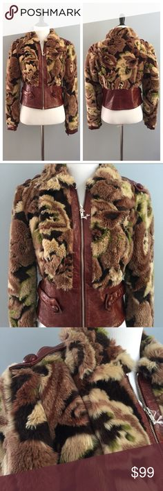 """Betsey Johnson faux fur bomber jacket Brand new Betsey Johnson faux fur and faux leather bomber jacket is different yet stylish. Measurements to come!! Measurements (laying flat):  🔸bust (underarm to underarm)- 18"""" 🔸length (top to bottom hem)- 19"""" 🔸arm length (shoulder to sleeve end)- 23.5"""" Betsey Johnson Jackets & Coats"""