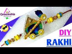 DIY Rakhi making at home Handmade Rakhi Designs, Handmade Design, Diy Bracelets Easy, Beaded Bracelets, Diy Gifts Paper, Rakhi Making, Bullet Journal Mood, Borders For Paper, Peacock Blue