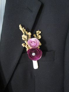 Paper Flower Boutonnieres for Groomsmen by SpringDews on Etsy, $7.00