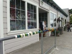 knitted pole, Point Reyes Station