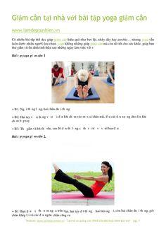 Giảm cân tại nhà với bài tập yoga giảm cân by Làm đẹp tự nhiên via slideshare