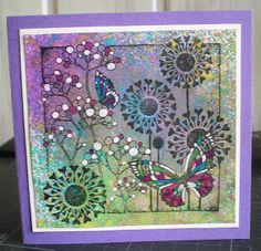 Chocolate Baroque stamps and Dylusions sprays from Angelika - beautiful artwork