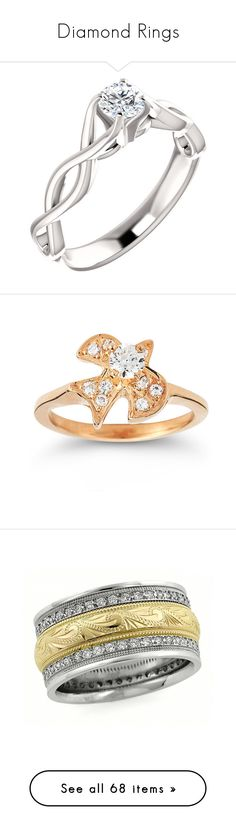 """Diamond Rings"" by applesofgoldjewelry ❤ liked on Polyvore featuring jewelry, rings, diamond jewelry, 14k rose gold ring, pink gold jewelry, 14 karat gold jewelry, rose gold rings, diamond band wedding ring, wedding band rings and paisley jewelry"