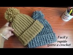 af222fd20dd5a Como tejer gorro de lana crochet para todos los talles - YouTube Hacer  Gorro De Lana