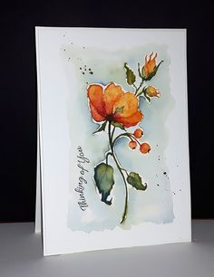 et de Penny Black par Micheline 'Mimi' Jourdain Watercolor And Ink, Watercolor Flowers, Watercolor Paintings, Watercolors, Watercolor Portraits, Watercolor Landscape, Abstract Paintings, Penny Black Cards, Penny Black Stamps