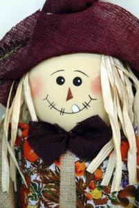 How to make a scarecrow face-  Fabric Head
