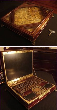 steampunk laptop - or as I would prefer to say 'lab comp'