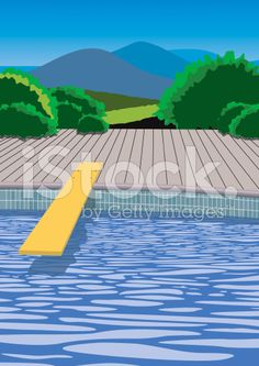diving board yellow sunny pool ripples vector royalty-free stock vector art Diving Board, Free Vector Art, Pools, Sunnies, Royalty, Yellow, Illustration, Outdoor Decor, Swimming Pools