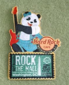 Girl Scouts Nation's Capital 100th anniversary patch. Rock the Mall Hard Rock Cafe patch