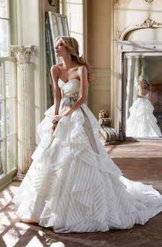 Sweetheart A-Line Wedding Dress  with Natural Waist in Organza. Bridal Gown Style Number:32686552