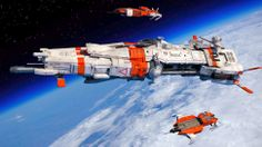 I want to work and live in these awesome spaceships
